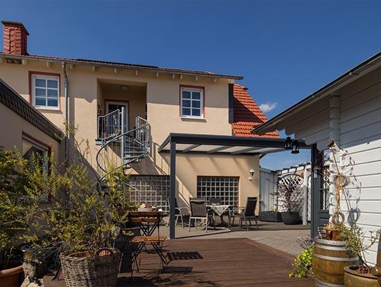 Terrassen-<wbr>überdachung in Dorfitter